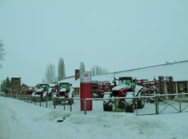 Winterbild der Filiale Schneidlingen der Landmaschinen Roschwitz GmbH. Foto: Möbius