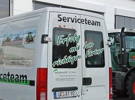 Mit rund 50 Kundendienstfahrzeugen stellt die AGRAVIS Technik Heide-Altmark den mobilen Service in der Fläche sicher.