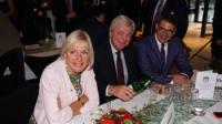 Hessens Digitalisierungs-Ministerin Kristina Sinemus, Ministerpräsident Volker Bouffier und Landtagspräsident Boris Rhein
