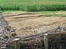 Barrieren aus Reisigzäunen können bei Starkregenfällen Häuser und Straßen vor abgeschwemmter Erde schützen, darauf wies Michael Rémy von der elsässischen Landwirtschaftskammer hin.