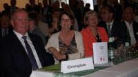 HBV-Präsident Karsten Schmal, Landwirtschaftsministerin Priska Hinz und Staatssekretärin Dr. Beatrix Tappeser