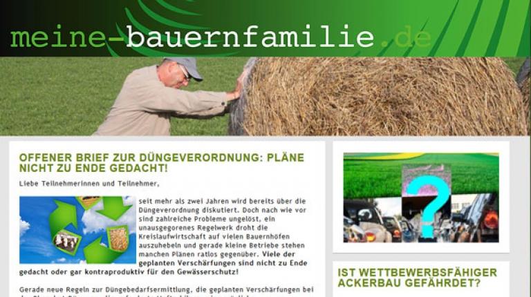 Beteiligen Sie sich an der neuen Aktion auf der Mitmachplattform www.meine-bauernfamilie.de!