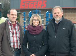 Erhard Eggers (re.), seine Tochter Katrin und Werkstattleiter Henrik Nieschulze sehen in den Eurodealer-Verträgen Vorteile für den Fachhandel, aber auch Ansätze zur Weiterentwicklung des Konzepts.