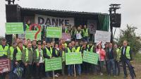 Die hessische Delegation bei der Bauerndemo anlässlich der AMK in Mainz