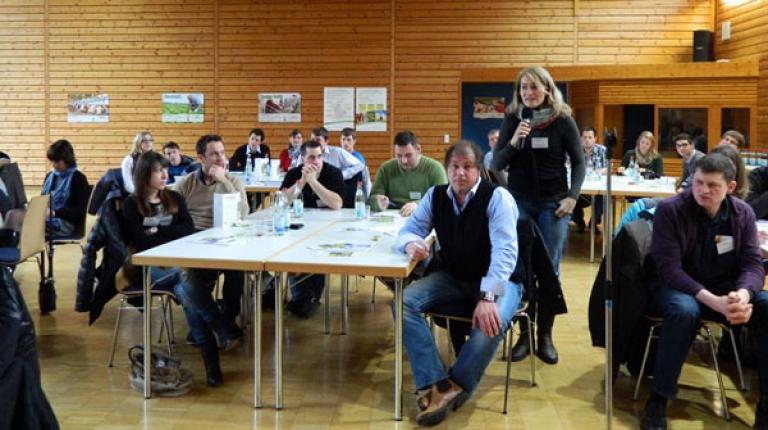Hof und Privatleben unter einen Hut bringen � auf der Jungunternehmertagung 2013 holten sich rund 50 junge Menschen Impulse und Anregungen.