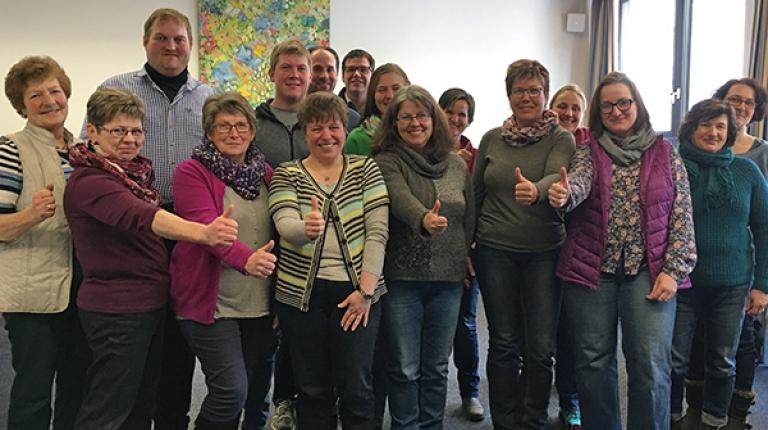 Diese Gruppe aus frischgewählten Ortsbäuerinnen und Ortsobmännern besuchte bereits das Intensivseminar am Haus der bayerischen Landwirtschaft in Herrsching