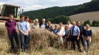 Das Erntepressegespräch fand auf dem Betrieb der Familie Ritter in Bebra-Breitenbach im Landkreis Hersfeld-Rotenburg statt.