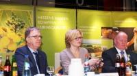 v.l.n.r. Generalsekretär Peter Voss-Fels, die stv. CDU-Bundesvorsitzende Julia Klöckner und Präsident Karsten Schmal