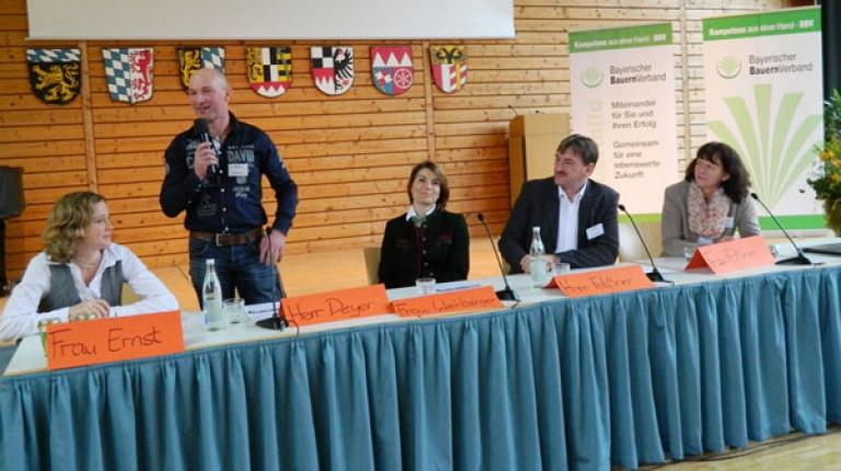Landwirt Andreas Deyer aus dem Landkreis Konstanz erzählte seine persönliche Lebensgeschichte.