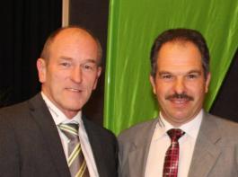 Die Generalversammlung im vergangenen Jahr (unser Bild) bestritten sie noch gemeinsam, nun trafen sie sich vor dem Arbeitsgericht: Maschinenring-Vorstand Dieter Zimmermann (links) und Heinz Rehm.