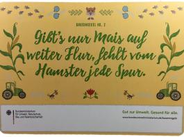 """Eine der elf """"neuen Bauernregeln"""" aus dem Bundesumweltministerium, die in mehr als 70 Städten plakatiert und per Ansichtskarten  über soziale Netzwerke und eine Webseite verbreitet werden. Die Kampagne, aus Steuermitteln finanziert, soll rund 1,6 Millionen Euro kosten."""
