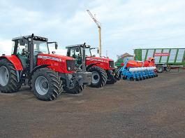 Mit den Traktoren von Massey Ferguson erreicht Kruse Agrartechnik immer öfter Lohnunternehmer als Kunden.