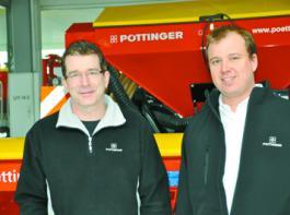 Rolf Stapel (links, Leiter Ersatzteile) und Martin Stegemann (Leiter Service) sind die Verantwortlichen im Pöttinger Stützpunkt.