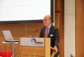 Rentenbank-Sprecher Reinhardt während des Schlusswortes (Foto: DBV)