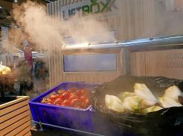 Top-Qualität bieten: Bedampfungstechnik für Obst  und Gemüse stellte die Firma P2raumdesign vor.