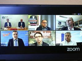 Coronabedingt fand die Diskussion zur Landtagswahl mit den agrarpolitischen Experten der im Landtag vertretenen Parteien per Videokonferenz statt.