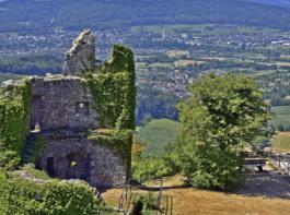 Eine tolle Rundumsicht in den Schwarzwald, das Rheintal und die Schweiz ist der Lohn für den kurzen Anstieg hinauf zur Küssaburg.