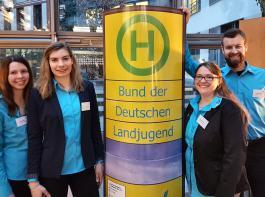 Chiara Hauser, Melanie Mennicke, Melanie Freuer und  Fabian Dörle nahmen am Parlamentarischen Abend des BDL teil.