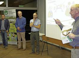 Informierten und diskutierten in Forbach (von links):  Thomas Huschle, Michael Nödl,  Dr. Micha Herdtfelder und Martin Hauser.