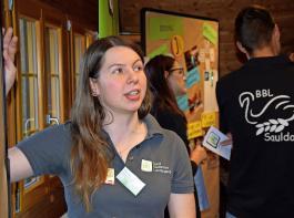 Chiara Hauser diskutierte mit den Teilnehmern über Vernetzung.