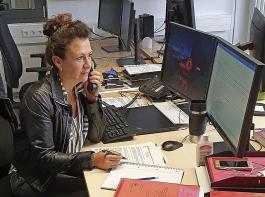 Andrea Gmeinder betreut den betriebs- wirtschaftlichen  Datenvergleich am KOB.