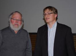 Links: Ludwig Käppeler von der Braugerstenstelle.  Rechts: Dr. Andreas Butz vom LTZ Augustenberg.