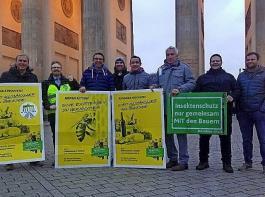 Auch aus Südbaden waren Bäuerinnen und Bauern nach Berlin gereist – mit Schleppern, mit Bussen und per Bahn.