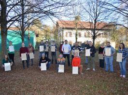 Die Meister/innen Fachrichting Ökolandbau, erhielten in Emmendingen ihre Zertifikate.