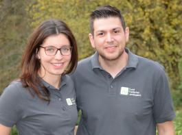 Katharina Dier und Dominik Schopp, Vorsitzende des BBL
