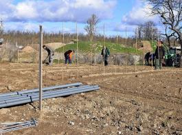 Handarbeit war angesagt bei der Anlage des Bereiches für Obstbau für die Landesgartenschau 2022.