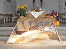 Sebastian Schmidt zeichnete den Entwurf für das Altarbild.