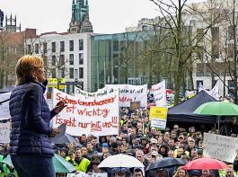 Bundeslandwirtschaftsministerin Julia Klöckner warnte gegenüber den Demonstrationsteilnehmern davor, die Brüsseler Forderungen auf die leichte Schulter zu nehmen.