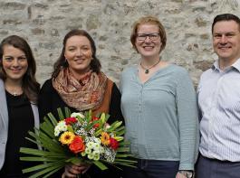 Das neue Vorstandsteam  besteht aus Carola Lutz, Daniela Ordowski und Sarah Schulte-Döinghaus (von links), Stephan Barthelme hat seine Aufgaben im KLJB-Bundesvorstand weitergegeben.