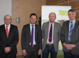 Referierten in Ulm-Seligweiler (von links): Rainer Pflugfelder, Jaroslaw Benkowski, Peter Spandau und Reinhard Funk.