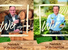Markus Ell (Geschäftsführer der Oberkircher Winzer, links) und Winzer Martin Linser aus Freiburg-Opfingen sind zwei der neuen Werbeköpfe.