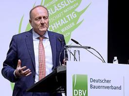 """DBV-Präsident Joachim Rukwied sieht die SPD im Bund bei der Landwirtschaft als """"Verhinderungs- und Blockadepartei""""."""