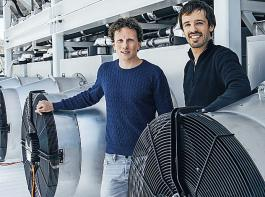Die Ingenieure Christoph Gebald und Jan Wurzbacher