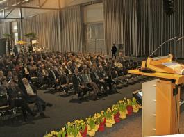 Erst die Agrarpolitik, dann die Fachmesse: BLHV-Präsident Werner Räpple begrüßte am Donnerstag voriger Woche  die Gäste der Landesversammlung erstmals anlässlich der eigenen Messe RegioAgrar Baden in der Messe Freiburg.