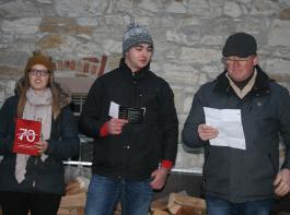 Carmen Kaufmann und Jürgen Herr (Laju) gaben zusammen mit dem Dieter Hagin (GV) eine Vorschau  auf die bevorstehenden  Jubiläumsveranstaltungen (von links).