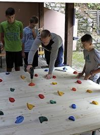 Im Workshop entstand unter anderem eine Kletterwand.
