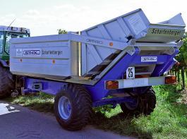 Traubenwagen mit Vibrationsaustrag