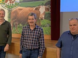 Sie tragen Verantwortung bei der Erzeugergemeinschaft   (von links):   die  stellvertretenden Vorsitzenden Martin Bär und  Hubert Dorer sowie der Vorsitzende  Markus Kaiser.