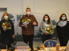 Das neue Team des KLJB: Sarah Schulte-Döinghaus,   Jannis Fughe, Daniela Ordowski und Carola Lutz (von links).