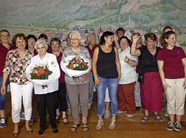 Anlässlich der Ehrungen zeigten sich die Landfrauen Utzenfeld gut gelaunt.