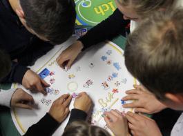 Beim BBL-Spiel zur Europawahl lernten  die Lajus sich und die Europäische Union besser kennen.