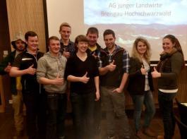 Das Vorstandsteam des AK Junge Landwirte Breisgau-Hochschwarzwald