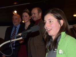 BLHV-Präsident Werner Räpple, Weinprinzessin Katrin Schmidt, Weinbauverbands-Vizepräsident Franz Benz und die BBL-Vorsitzende Katharina Dier gratulierten den Winzern (v. links).