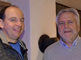 Clemens Hug (links), Mitglied im Villinger BLHV-Kreisvorstand.   freute sich, dass mit Martin Elsäßer ein ausgewiesener  Grünlandexperte in den Schwarzwald gekommen war.