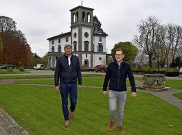 Sie brennen für Schloss Rheinburg: Lorenz Keller (links) und Julian Moser.
