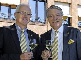 Zufriedene Vorstände in Breisach: Eckart Escher (links) und Peter Schuster.